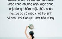 """STT Vợ chồng sống với nhau bằng chữ """"nhẫn"""", hơn nhau chữ """"nhịn"""""""