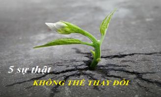 5 sự thật bất di bất dịch bạn không bao giờ thay đổi được trong cuộc sống