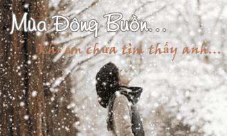 STT cô đơn của cô gái khi vẫn một mình lặng lẽ chống chọi với mùa đông
