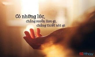 Đừng chán, đừng buồn cuộc khi bạn vẫn chưa có gì trong tay