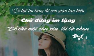 Những stt hay nhất về sự lặng im không nói trong cuộc sống và tình yêu